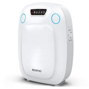 RENPHO True HEPA Air Purifier for Home Large Room 330 SQ.FT, Air Purifier for Allergies and Pets, Indoor Air Cleaner for Office Kitchen, Eliminate Odors Smoke Mold Pollen Dust for Bedroom, Auto Mode