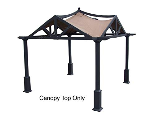 APEX GARDEN Replacement Canopy Top for Lowe's 10 ft x 10 ft Gazebo #GF-12S039B / GF-9A037X (Brown)