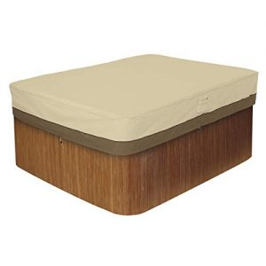 Classic Accessories Veranda Rectangular Hot Tub Cover, Medium (Renewed)