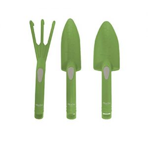 Martha Stewart MTS-PDT-S3 Trowel, Scoop, and Cultivator, Set of 3, Garden Tool Set