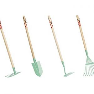 Beetle & Bee Kids Garden Tall Tool Set-Real Gardening Tools for Small Hands, Girl Boy