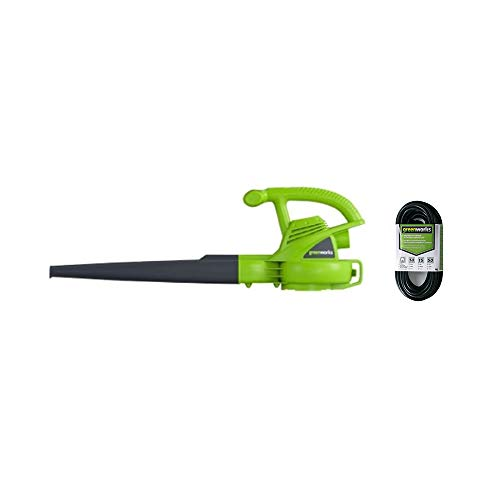 Greenworks 7 Amp Single Speed Electric Leaf Blower, 160 MPH