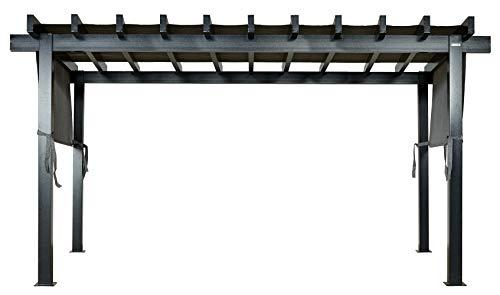 Sojag 10' x 16' x 8' Yamba Outdoor Backyard Pergola Rectangular Shaped Gazebo, 10' x 16', Dark Grey