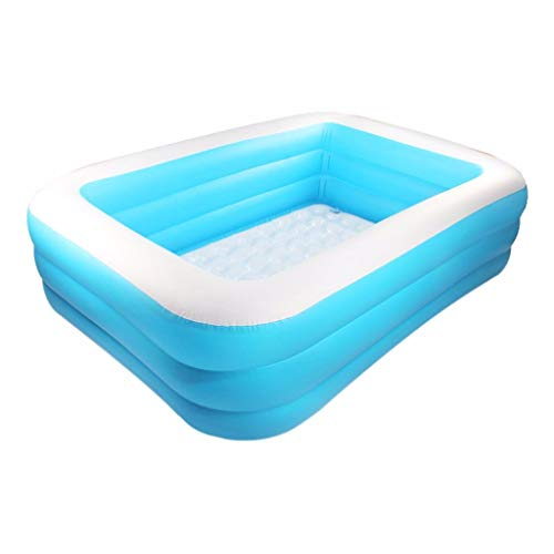 Inflatable Family Swimming Pool, Inflatable Swimming Pools Blow up Kiddie for Garden Outdoor Backyard Family Kids Inflation Pool Sand Square (55.1x39.3x19.6in)