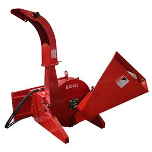 """Titan Distributors Inc. Hydraulic Wood Chipper for Skid Steers and Tractors with Universal Quick Tach 