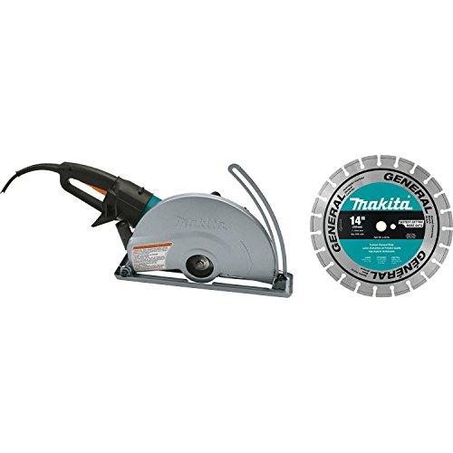 "Makita 4114X 14"" Electric Angle Cutter, with 14"" Diamond Blade"