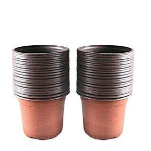 "KINGLAKE 100 Pcs 4"" Plastic Plants Nursery Pot/Pots Seedlings Flower Plant"