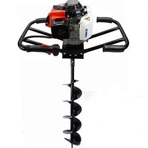 "XtremepowerUS 2 Man 63CC 2-Stroke Planting Gas Post Hole Digger Dirt Fence Plant EPA Motor (Digger + 6"" Bit Kit)"
