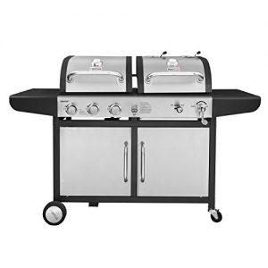 Royal Gourmet ZH3002-S 3-Burner Gas Charcoal Grill Combo (Stainless Steel)