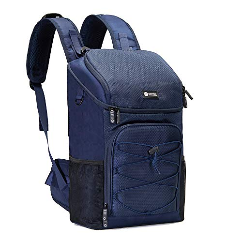 Easthills Outdoors Backpack Cooler 32 cans Lightweight Insulated Leak-Proof Lunch Cooler Backpack with Hip-Belt Straps for Men & Women to Picnics, Camping, Hiking, Beach, Park or Day Trips, Blue