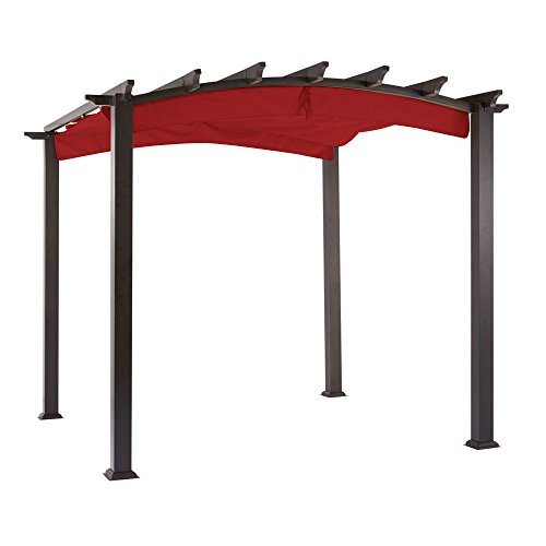 Garden Winds Replacement Canopy The Hampton Bay Arched Pergola - Riplock 350 - Cinnabar