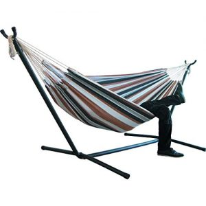 AOJIAN Hammock Chair with Stand Portable Indoor Bedroom Yard 2 Person Heavy Duty