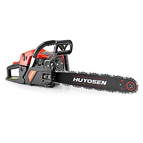 HUYOSEN Gas Power Chain Saws Corded 46 CC 2 Cycle Gas Powered Chainsaw Guide Bar Size 18 inchs 0.325 inchs 72DL Chain Guide Bar 4518L