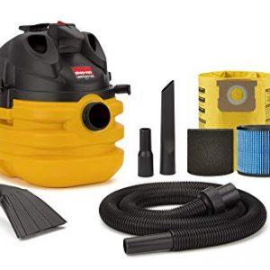 Shop-Vac 5870210 5 Gallon 6.0 Peak HP Portable Contractor Wet Dry Vacuum, Black