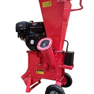 "15HP 420CC Gas Powered Wood Chipper Shredder Mulcher, 4"" Capacity, with Mulch Bag and Electric Start"