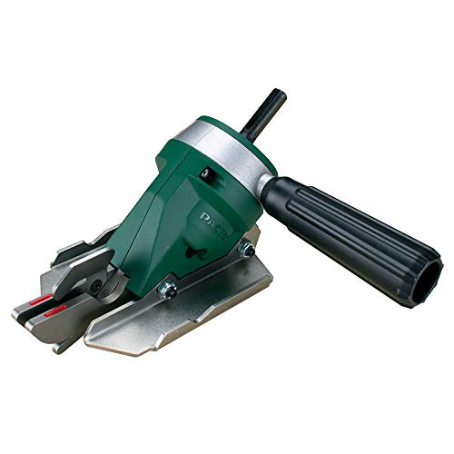 """PacTool SS724 Snapper Shear Pro Fiber Cement Cutting Shear, Works With Any 18 Volt Cordless Drill, Cuts ¼"""" And ½"""" HardieBacker With Minimal Dust, Makes Straight, Right Angle, Curved and Circle Cuts"""