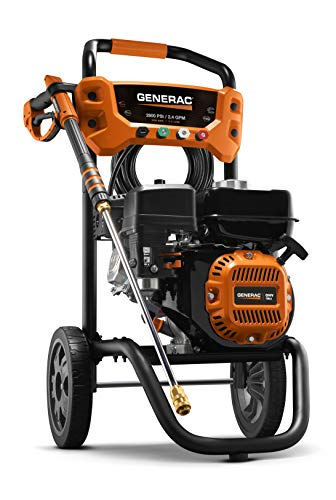 Generac 8874 2900 PSI 2.4 GPM Pressure Washer, Orange, Black