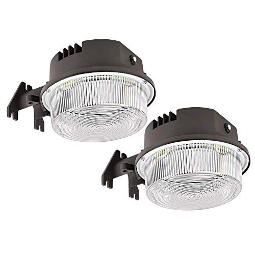 2-Pack LED Barn Light 50W, SZGMJIA 6500lm Dusk to Dawn Yard Lighting with Photocell,CREE LED 5000K Daylight, 300W MH/HPS Replacement, 5-Year Warranty, IP65 Waterproof for Outdoor Security/Area Light