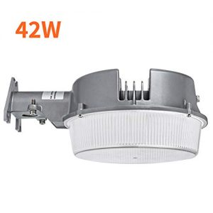 CINOTON LED Barn Light 42W, 5000K Daylight Dusk to Dawn LED Outdoor Lighting with Photocell, 4950lm LED Security Area Light, Replace Up to 400W Incandescent/175WMH, Yard light for Farm/Garage/Sidewalk