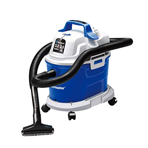Vacmaster Wet Dry Vacuum 3.2 Gallon 2.5 Peak HP Wall Mounted Shop Vacuum Cleaner with Extension Wands Tool Storage & Wall Bracket for Garage, Car, Home & Workshop