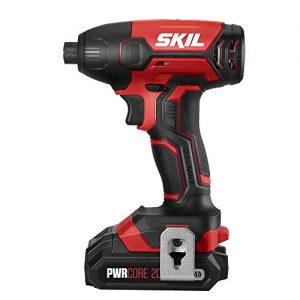 SKIL 20V 1/4 Inch Hex Cordless Impact Driver, Includes 2.0Ah PWRCore 20 Lithium Battery and Charger - ID572702