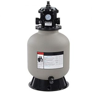 "LAGarden 16"" Above Inground Swimming Pool Sand Filter System with 6 Way Valve and Stand Fit 1/2HP 3/4HP Water Pump"