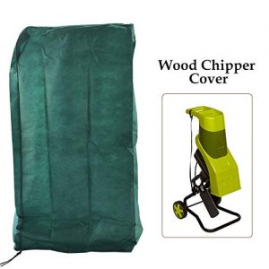 Ecover Dustproof Wood Chipper Cover Electric Wood Shredder Cover, L2.3 x W2.1 x H3.6ft Dark Green