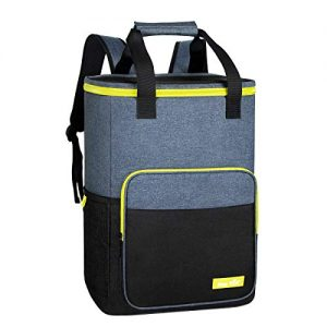Hap Tim Backpack Cooler Insulated Leak-Proof Cooler Backpack Large Capacity 30 Cans Soft Cooler Bag for Men Women to Picnics, Hiking, Camping, Beach, Lunch, Park or Day Trips(13760BK-G)