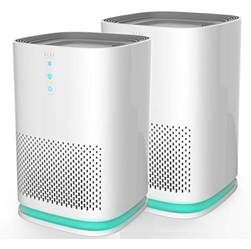 Medify MA-14W2 Medical Grade Filtration H13 HEPA Air Purifier for 200 Sq. Ft. (99.97%) Allergies, dust, Pollen, Perfect for Office, bedrooms, dorms and Nurseries - White, 2-Pack