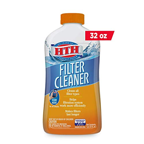 HTH 67025 Filter Cleaner Care for Swimming Pools, 1 qt