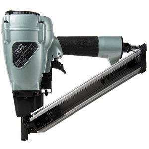 """Metabo HPT Positive Placement Nailer, Pneumatic, Accepts 1-1/2"""" Nails, Metal Connector, Strap-Tite Fastening System, (NR38AK)"""