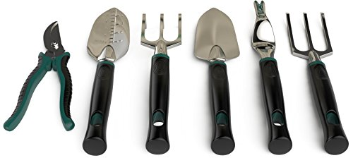 Pro Garden Gear Gardening Tool Set for The New or Seasoned Gardener. Ergonomic Tools Kit Built to Last. with Tote Bag So Your Supplies are Kept Away from Kids and Safely Stored. Best Gardening Supply