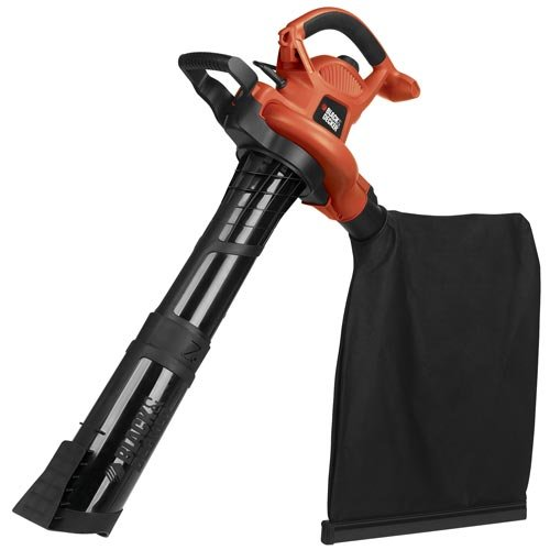 BLACK+DECKER (BV6600) 3-in-1 Electric Leaf Blower, Leaf Vacuum