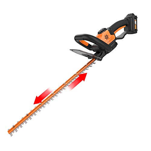 WORX WG261 20V Power Share 22-Inch Cordless Hedge Trimmer, Battery and Charger Included