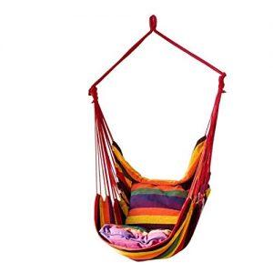 Yealsha Max 330 lbs Hanging Rope Hammock Chair Swing Seat, Large Hammock Chair Relax Hanging Swing Chair for Indoor/Outdoor