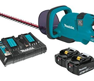 "Makita XHU04PT 18V X2 (36V) LXT Lithium-Ion Cordless (5.0Ah) 25-1/2"" Hedge Trimmer Kit, 25-1/2-Inch, Teal"