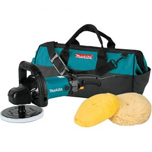 "Makita 9237CX3 Makita 7"" Polisher, 10 AMP, 600-3,000 RPM, var. spd., loop handle with foam pad and bag, ,"