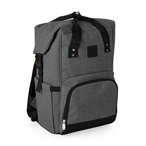 ONIVA - a Picnic Time brand OTG Roll-Top Cooler Backpack, Heathered Gray