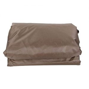 TOPINCN Waterproof Polyester Square Hot Tub Cover Outdoor SPA Covers Square Hot Tub Cover Hot Tub Outdoor Cover Cap and Hot Tub Cover Protector (Coffee)