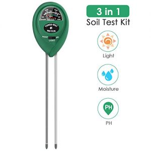 PentaBeauty Soil Test Kit, 3-in-1 Soil Tester with Moisture,Light and PH Test for Garden, Farm, Lawn, Indoor & Outdoor, Soil Moisture Meter, Soil Water Monitor