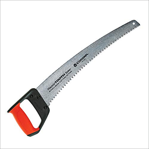 Corona RS 7510D RazorTOOTH Heavy Duty Pruning Curved Blade Trimming Saw for Hand Cutting Tree Limbs and Branches, 18