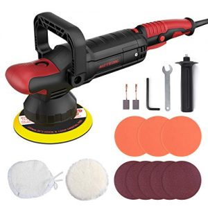 Polisher, Meterk Orbital Car Buffers Polisher 10A 1200W Dual Action Random Automotive Polisher Machines 6 Variable Speeds, Lock Switch, U-Shaped Handle, Soft Start 150MM Base