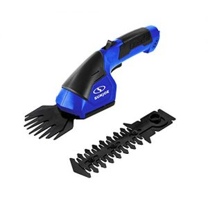 Sun Joe HJ604C-SJB Cordless 2-in-1 Grass Shear, Hedge Trimmer, Dark Blue