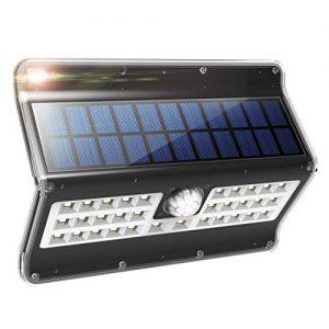Solar Lights Outdoor, 3 Optional Modes Wireless Motion Sensor Solar Light, IP 65 Waterproof, Security Lights for Front Door, Yard, Garage, Deck, 1 Pack