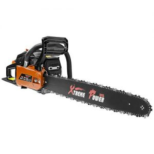"XtremepowerUS 22"" inch 2.4HP 45cc Gasoline Gas 2-Stroke Chainsaw Cutting Wood Cutter Industry Engine Motor EPA, Orange"