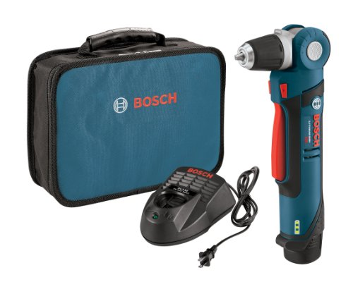 Bosch PS11-102 12-Volt Lithium-Ion Max 3/8-Inch Right Angle Drill/Driver Kit with (1) High Capacity Battery and Charger