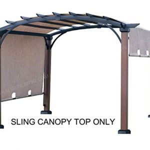 "ALISUN Replacement Sling Canopy (with Ties) for The Lowe's Allen + roth 10 ft x 10 ft Tan/Black Material Freestanding Pergola #L-PG152PST-B (Size: 200"" (L) x 103"" (W))"