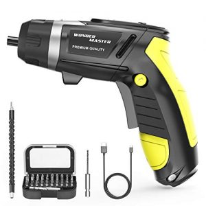 "4.8V High Screwdriver 1/4"" Multi-Functional Electric Screwdriver and Screw Bits Set Lithium Electric Dril Cordless Hand Drill Charging Screwdriver Screw Power Gun and a Built-In LED Light for Home DIY"
