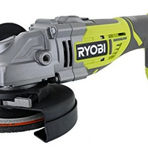"Ryobi P423 18V One+ Brushless 4-1/2"" 10,400 RPM Grinder and Metal Cutter w/ Adjustable 3-Position Side Handle and Onboard Spanner Wrench (Battery Not Included, Power Tool Only)"