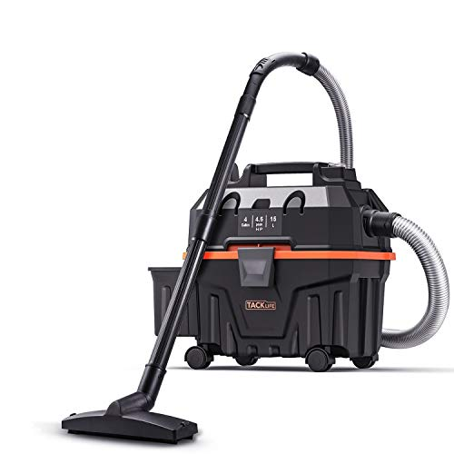 TACKLIFE Wet Dry Vacuum 4 Gallon 5.5 Peak HP 18Kpa 3in1 Shop vac with Blower,Powerful Suction Ideal for Job Site,Garage,Basement,Workshop-PVC01B